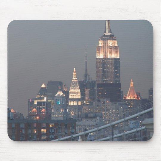 USA, New York City, View of Manhattan Bridge, Mouse Pad
