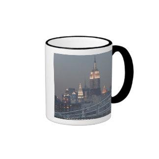USA, New York City, View of Manhattan Bridge, Mugs