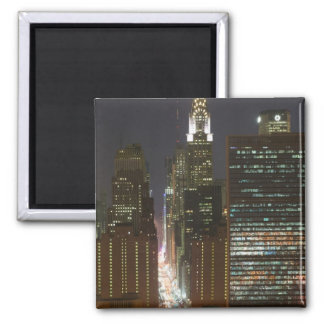 USA, New York City, View of Midtown with Fridge Magnet