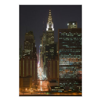 USA, New York City, View of Midtown with Poster