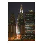 USA, New York City, View of Midtown with Print