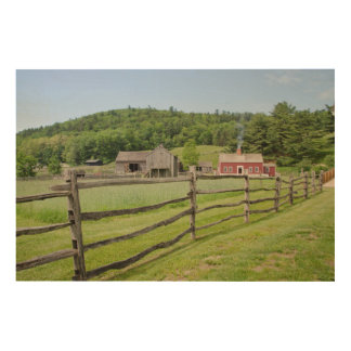 USA, New York, Cooperstown, Farmers' Museum Wood Wall Art