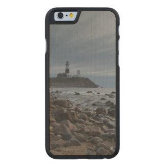USA, New York, East Hampton. Montauk Point Carved Maple iPhone 6 Case