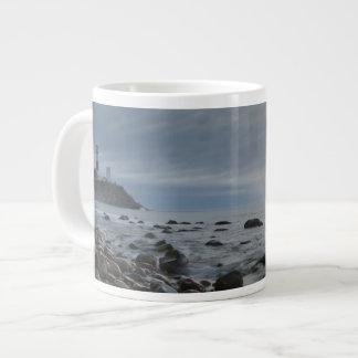 USA, New York, East Hampton. Montauk Point 20 Oz Large Ceramic Coffee Mug