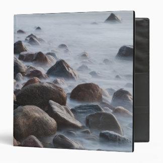 USA, New York, East Hampton. Ocean surf at 3 Ring Binder