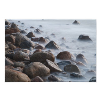 USA New York East Hampton Ocean surf at Photographic Print