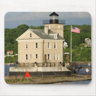 USA, New York, Kingston, Hudson River. Rondout Mouse Pad