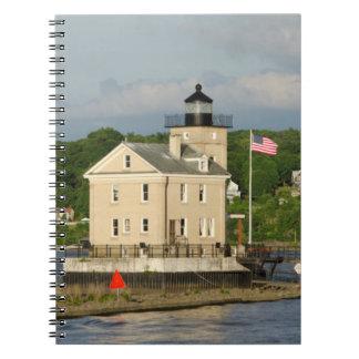 USA, New York, Kingston, Hudson River. Rondout Note Books