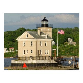 USA, New York, Kingston, Hudson River. Rondout Postcard
