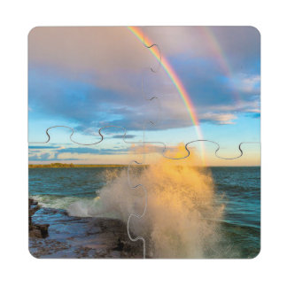 USA, New York, Lake Ontario, Clark's Point Puzzle Coaster