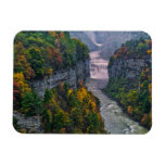 USA, New York, Letchworth State Park. River and Rectangular Photo Magnet