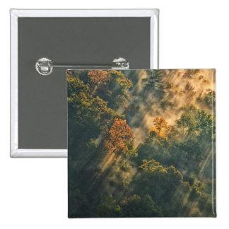 USA, New York, Letchworth State Park. Sunrise 2 Inch Square Button