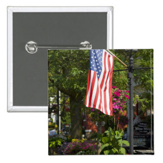 USA, New York, Lewiston. American flag attached Button