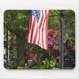 USA, New York, Lewiston. American flag attached Mouse Pad