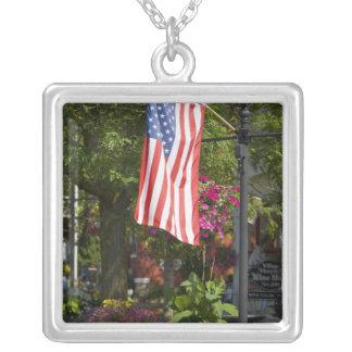 USA, New York, Lewiston. American flag attached Custom Jewelry