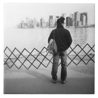 USA, NEW YORK: New York City Aboard the Staten Large Square Tile