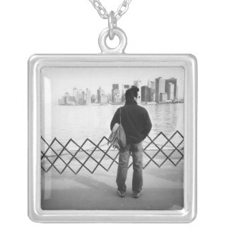 USA, NEW YORK: New York City Aboard the Staten Square Pendant Necklace