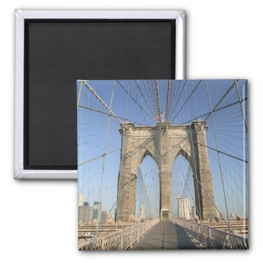 USA, New York, New York City, Brooklyn: 3 Refrigerator Magnet
