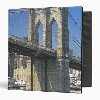 USA, New York, New York City. Brooklyn Bridge 3 Ring Binder