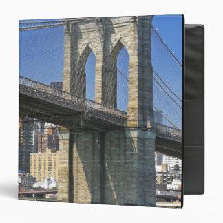 USA, New York, New York City. Brooklyn Bridge Vinyl Binder