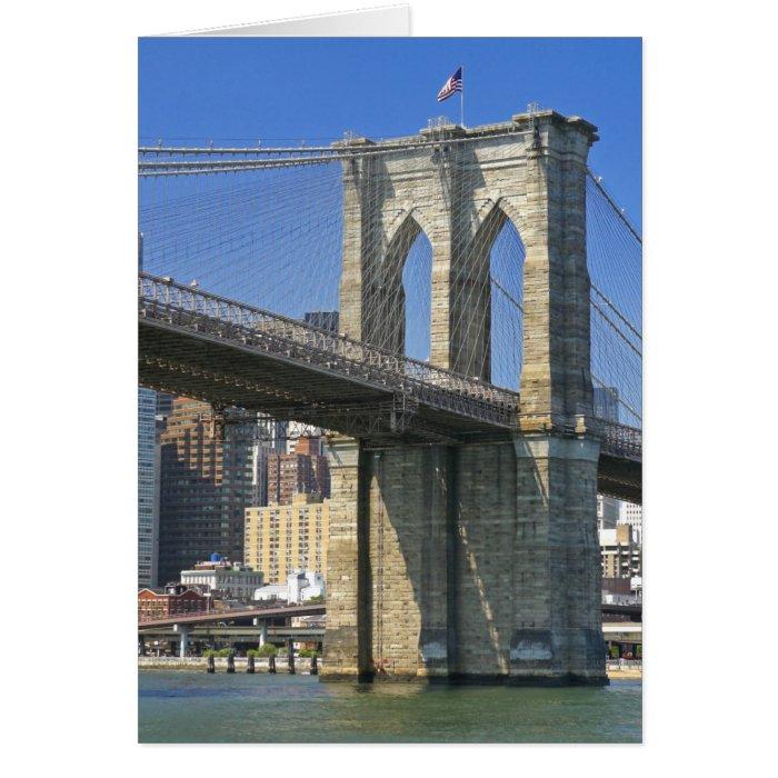 USA, New York, New York City. Brooklyn Bridge Card