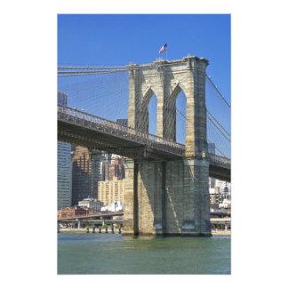 USA, New York, New York City. Brooklyn Bridge Photo Print