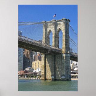 USA, New York, New York City. Brooklyn Bridge Print