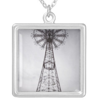 USA, New York, New York City, Brooklyn: Coney Silver Plated Necklace