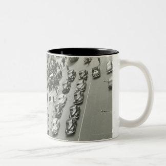 USA New York New York City elevated view Two-Tone Coffee Mug