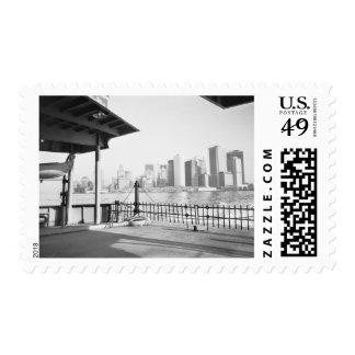 USA, NEW YORK: New York City Lower Manhattan Postage Stamp