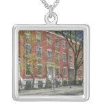 USA, New York, New York City, Manhattan: 25 Square Pendant Necklace