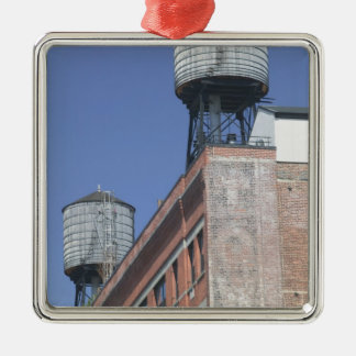 USA, New York, New York City, Manhattan: 5 Square Metal Christmas Ornament