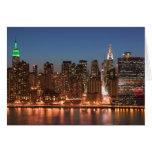 USA, New York, New York City, Manhattan: Aerial Card