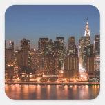 USA, New York, New York City, Manhattan: Aerial Square Sticker