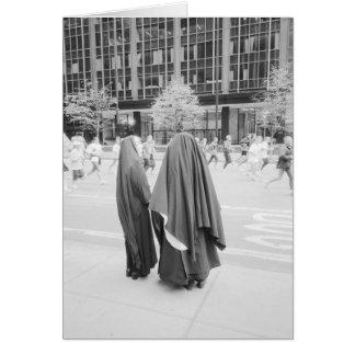 USA, NEW YORK: New York City Nuns Watching NYC Greeting Card