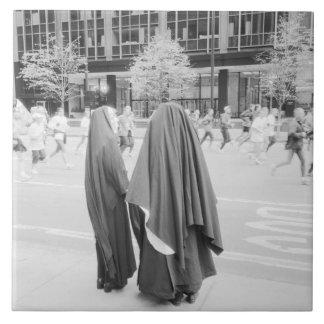 USA, NEW YORK: New York City Nuns Watching NYC Tile