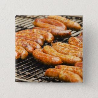 USA, New York, New York City, Sausages on Pinback Button