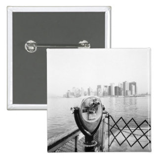 USA, NEW YORK: New York City Scenic Viewer Pinback Button