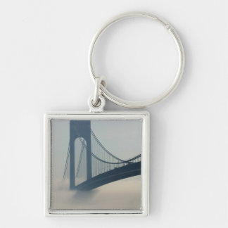USA, New York, New York City, Staten Island: Silver-Colored Square Keychain
