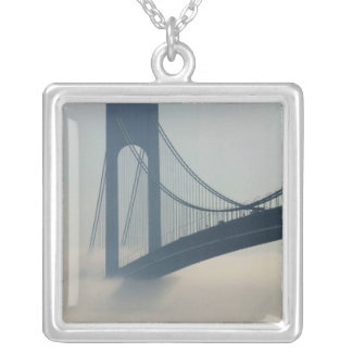 USA, New York, New York City, Staten Island: Square Pendant Necklace