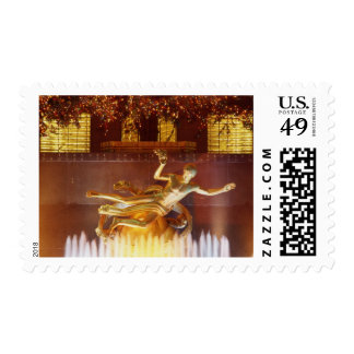 USA, New York, New York City, Statue of Postage Stamp
