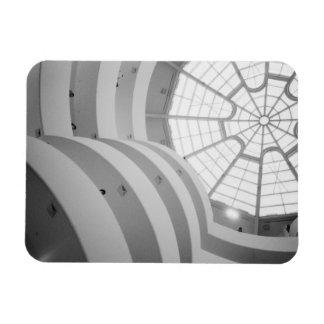 USA, New York, New York City: The Guggenheim 3 Rectangular Photo Magnet