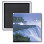 USA, New York, Niagara Falls. American Falls in 2 Inch Square Magnet