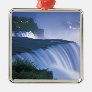 USA, New York, Niagara Falls. American Falls in Metal Ornament