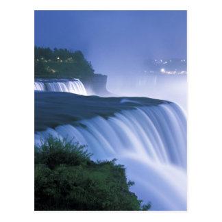 USA, New York, Niagara Falls. American Falls in Postcard