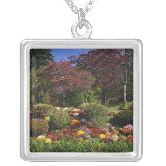 USA, New York, Saugerties, Seamon Park. Autumn Square Pendant Necklace
