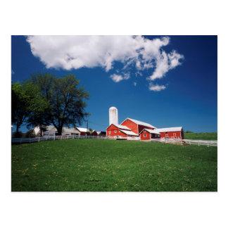 USA, New York, Sharon Springs, Farm Postcard