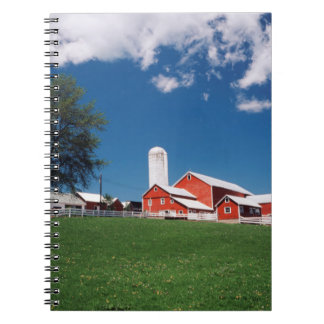 USA, New York, Sharon Springs, Farm Spiral Note Book