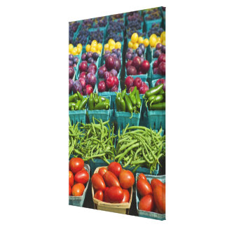 USA, New York State, New York, Vegetables and Stretched Canvas Prints