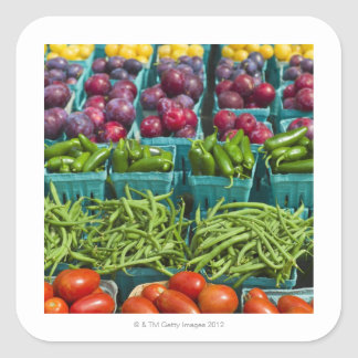 USA, New York State, New York, Vegetables and Square Sticker